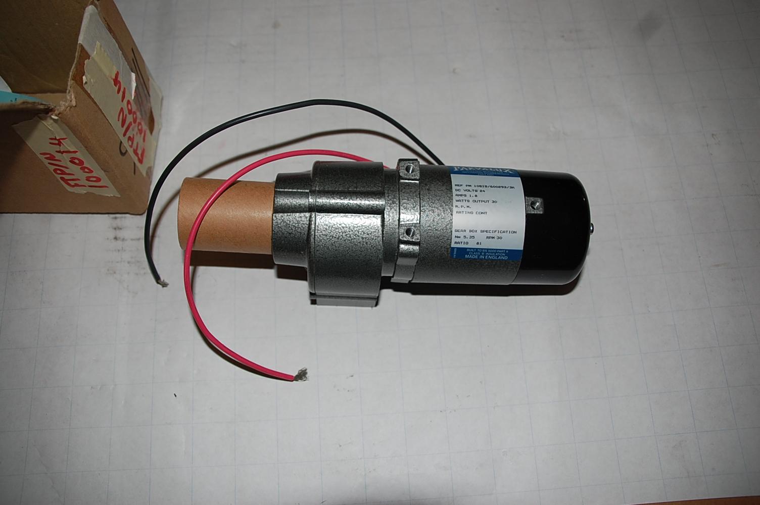 PARVALUX  DC motor